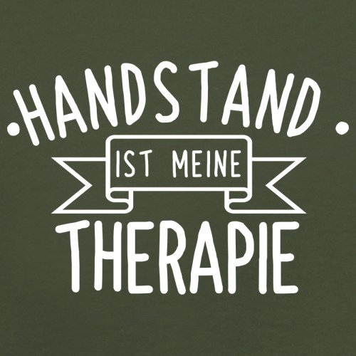 Handstand ist meine Therapie - Herren T-Shirt - 13 Farben Olivgrün