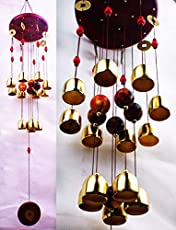 Paradigm Pictures Feng Shui Wind Chime for Bedroom Brass Bell Wind Chimes for Bedroom Home Positive Energy Balcony Bedroom (Brass 13 Bell)