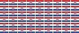 Mini Fahnen / Flaggen Set glatt - 20x12mm - selbstklebender Aufkleber - Kroatien - Sticker fürs Büro, Schule und zu Hause - 54 Stück