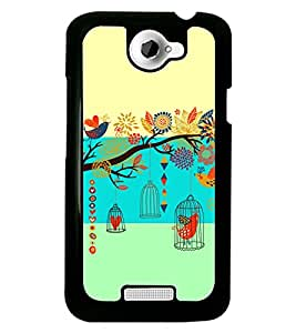 PRINTSWAG BIRD WITH TREE Designer Back Cover Case for HTC ONE X