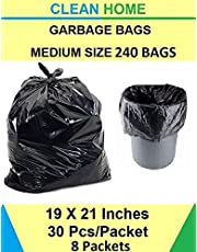 Clean Home Garbage Bags Black Colour 19 X 21 inch Medium Size 240 Pieces