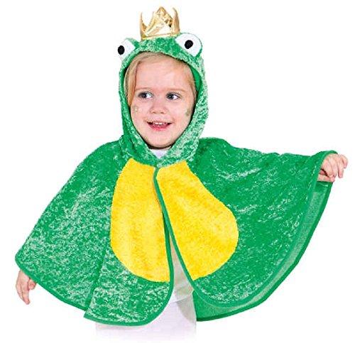 Fancy Me Kleinkinder Jungen Mädchen Mini Biest Biene Frosch Marienkäfer Welttag des buches-Tage-Woche Kindergarten Kostüm Kleid Outfit Umhang - Froschkönig, 3-4 Years (104cm) (Beste Welttag Des Buches Kostüme)