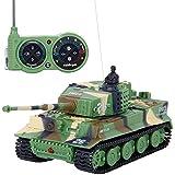 SGILE 1:72 Mini RC Tanque Control Remoto con mando a distancia Tanque Alemán Tigre Panzer Color Surtido