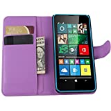 Tasche für Microsoft Lumia 640 Dual-SIM Hülle, Ycloud PU Ledertasche Flip Cover Wallet Case Handyhülle mit Stand Function Credit Card Slots Bookstyle Purse Design lila