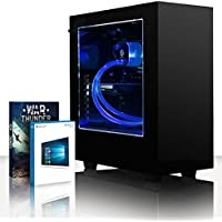 VIBOX Precision 6.107 Gaming PC Computer with War Thunder Game Voucher, Windows 10 OS (4.0GHz AMD FX Quad-Core Processor, Nvidia GeForce GT 710 Graphics Card, 32GB RAM, 120GB SSD, 3TB HDD)