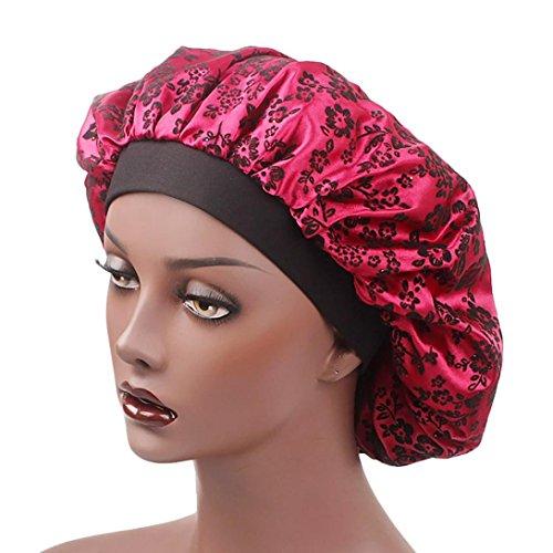 Damen Satin Floral Hut mit breiter Krempe VENMO Haarband Muslim Hut Haarkappe Strohhut (Sonnenschutz) Damen |Sonnenhut im Trilby-Look | Hut aus Stroh für den Sommer am Strand oder im Urlaub (Wine Red) (Satin-bogen Red)