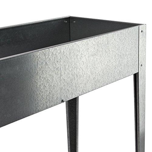 BULTO Metall-Hochbeet, LxBxH: 100 x 40 x 83 cm, verzinkt