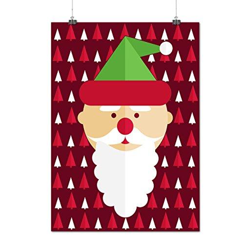 Weihnachtsmann Niedlich Cool Weihnachten Lustig Weihnachten Mattes/Glänzende Plakat A4 (30cm x 21cm) | Wellcoda