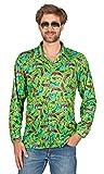 Andrea Moden Pop Banana Retro Hippie Hemd für Herren - Grün Gr. 54/56