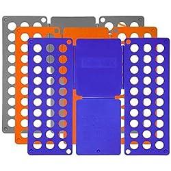 Foldplex Flipfold Plieuse Chemise Plieuse T-Shirt Planche À Plier (Gris / Bleu / Orange) Par Foldplex