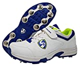 SG Sierra Cricket Spike Shoes, Size 11 (White/Lime/Blue)