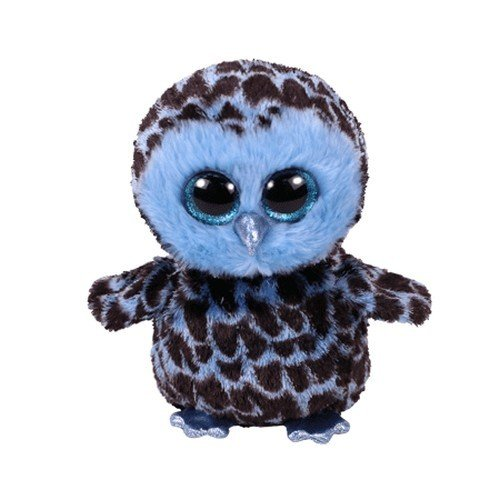 TY 36896 Yago, Eule blau/schwarz 15cm Glitzeraugen, Beanie Boo's (Große Eule-beanie-boo)