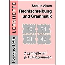 """Rechtschreibung und Grammatik: 7 Lernhefte zum """"Kontrollfix"""", Serie 2 (Kontrollfix plus)"""