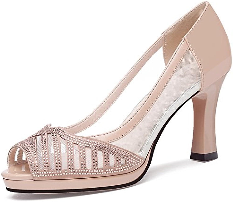 Chanclas MEIDUO Sandalias Zapatos de Mujer PU Primavera Verano Comodidad Novedad Tacones Alto Tacón Peep Toe Rhinestone...