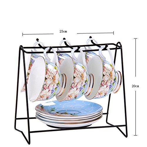 Tasse de café en céramique / tasse de café créative Set / 6 tasse 6 tasse de café / tasse de café (7 couleurs facultatives) ( couleur : F )