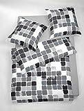 1 tlg. etérea Microfaser Bettwäsche Punkte Schwarz Weiß, 1x Kissenbezug 40x80 cm