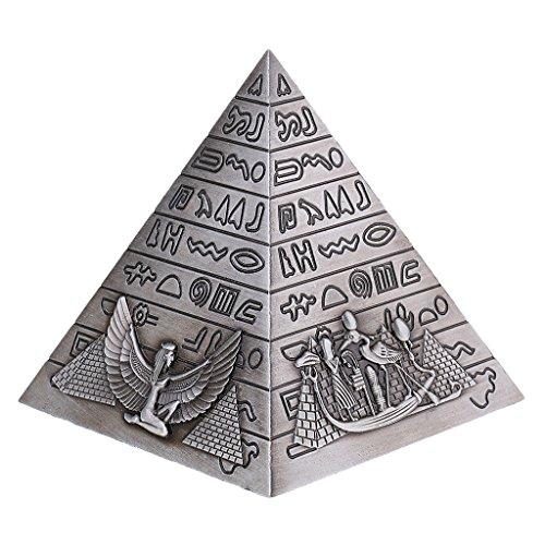 Sharplace Ornamento Modelo Pirámide Decoración Metal