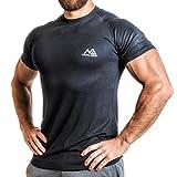 Herren Fitness T Shirt modal Männer Kurzarm Shirt für Gym