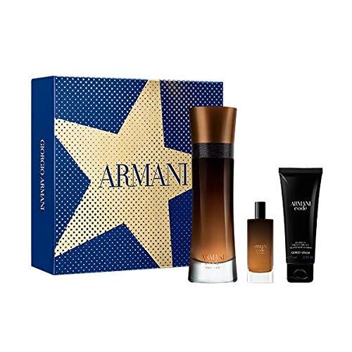 Giorgio Armani Code Profumo 110ml EDP Eau de Parfum Spray + 15ml EDP + 75ml Duschgel
