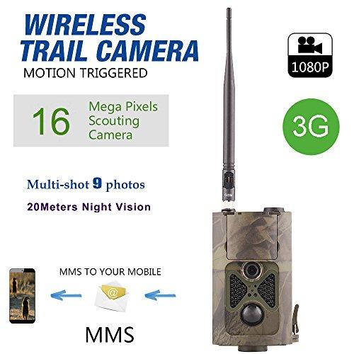 Hc-550g Chasse Camera Wild Piège à infrarouge HD 16MP SMS MMS SMTP GPRS 3G 120degrés Hunter Jeu Trail Forest Wildlife Camera