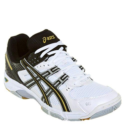 ASICS Volley Shoes Gel Rocket Snow/Black/Gold EU 39,5 (25cm) UK 5,5 cod. B003N 0090