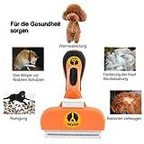Hundebürste Katzenbürste Hunde-Pflegewerkzeug zur Fellpflege Unterwollbürste Unterfellbürste Hundefellpflege zur Einfachen Entfernung von Losen Haaren und Unterwolle MEHRWEG - 5