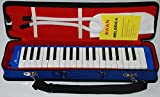 music mantras Swan SW37J-2 37-Key Melodica with Case (Blue)