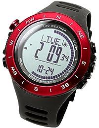 [Lad Weather] 100metros resistente al agua, altímetro, barómetro Storm alerta paso contador calorías montaña datos Unisex Reloj