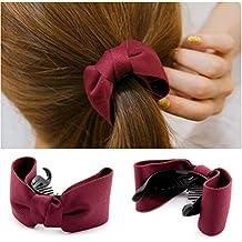 77493e95b 2pcs Mujeres Niñas Bowknot Horquilla Pelo Clip Pinza para pasador para  Headwear Ponytail Holder pelo aoriccesses