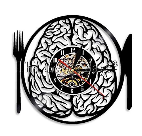 reloj de pared cubiertos y cerebro