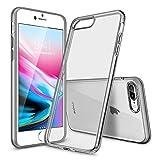 ESR Coque pour iPhone 8 Plus/ 7 Plus, Bumper Housse Etui de Protection Premium [Anti Choc][Ultra Fin][Compatible avec Le Rechargement sans Fil] pour Apple iPhone 7 Plus/8 Plus (Noir Transparent)