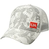 Under Armour Men's Blitzing Trucker 3.0 Gorra, Hombre, Blanco (100), One Size