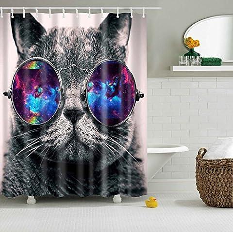 Rideau Animaux - Misslight Rideau de douche Imperméable étanche Coloré