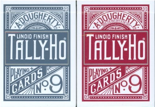 tally-ho-titanium-circle-back-playing-cards-two-deck-set-1-red-1-blue-by-tally-ho