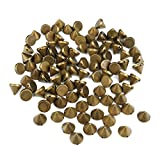 Come 2 Buy - Approx 100PCS 10MM BRASS/BRONZE/COPPER Acrylic Bullet Spike Cone Studs, Beads, Sew on, Glue on, Stick on, DIY Garments, Bags & Shoes Embellishment