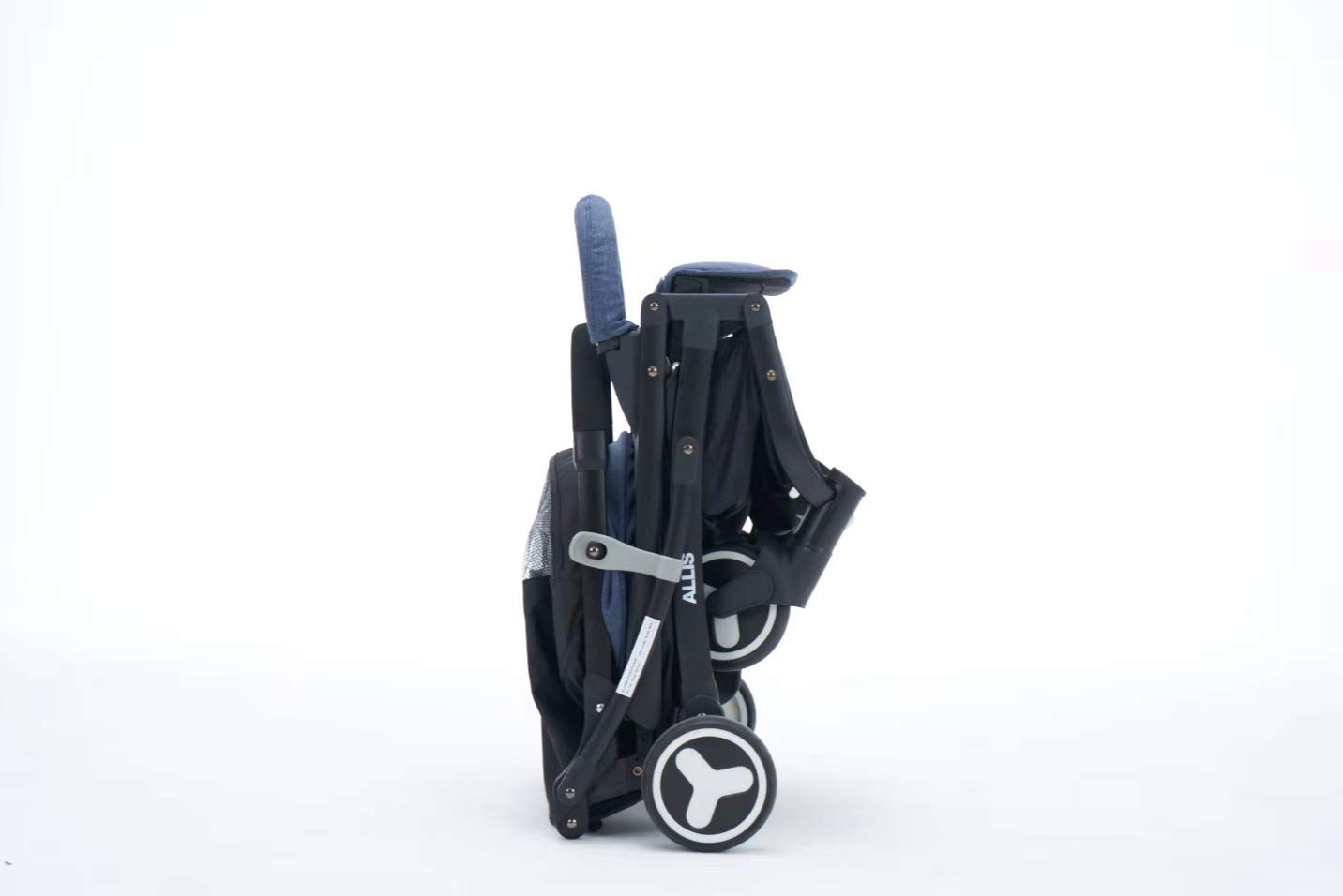 Allis Lightweight Plume Stroller Baby Buggy - Denim Allis Baby Made according to British Standard EN1888 and Fire Safety Regulations 1988. Lockable 360 swivel wheels, removable and suspension, Peek A Boo window/ Recline Seat/ Lie-flat position From 6M (Upto 15Kg Approx). Lightweight 6.7Kg only, Easy to fold with one hand only 9