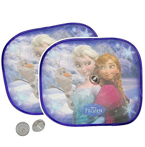 Unbekannt 2 TLG. Set Sonnenschutz - Disney die Eiskönigin  Frozen  - für Seitenscheibe im Auto - mit Saugnapf - Sonnenblende - für Kinder Baby - Mädchen völlig unverf..