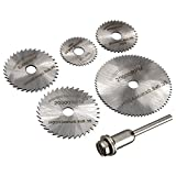 #4: TOOLSCENTRE HSS Circular Saw Blade Set for Metal Rotary Tools, 6 Pieces