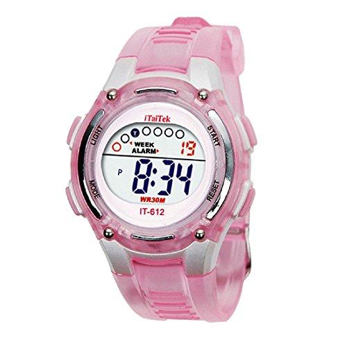 Digital Reloj de pulsera - iTaiTek Ninos Ninas natacion deportes digit