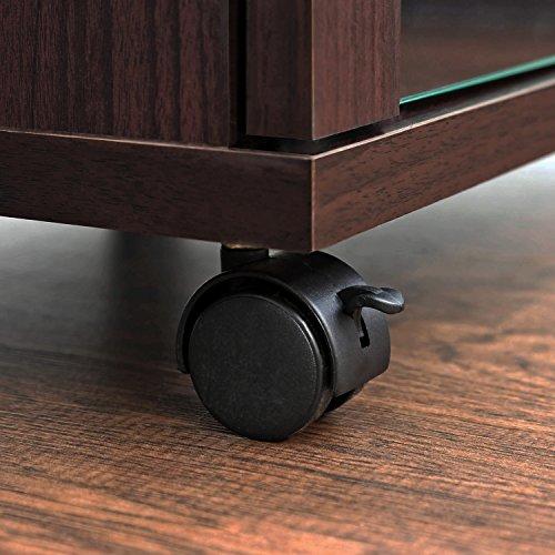 """511hbbcRxFL - Furinno Indo fl-800ex Soporte de TV con Doble Puertas de Cristal y Ruedas, 2x 2,""""Espresso"""