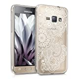 kwmobile Samsung Galaxy J1 (2016) Hülle - Handyhülle für Samsung Galaxy J1 (2016) - Handy Case in Weiß Transparent
