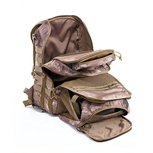 Imagen de yakeda® bolsa de hombro bolsos del alpinismo al aire libre equipado camuflaje táctico  de camping bolsa de viaje bolsas de viaje   militar 60l que acampa yendo trekking bolsa  a88034 camuflaje del desierto  alternativa