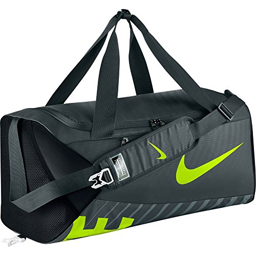 Nike Alpha Adapt Cross Body Sporttasche, Seaweed/Black/Volt, 28 x 59 x 32 cm