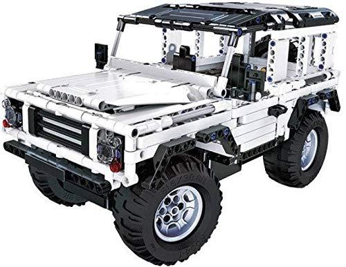 CaDA Ferngesteuerter Geländewagen Landrover Defender, weiß, Technik Baukasten, 533 Teile