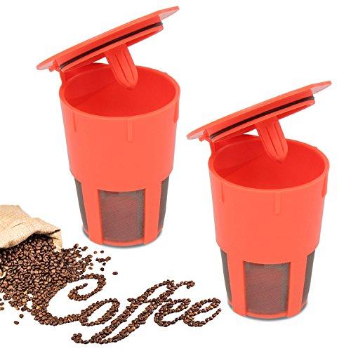 Xcellent Gloabl 2er Pack K-Karaffe Wiederverwendbare Kaffeefilter Für Keurig 2.0, Kompatibel mit K200, K300, K400, K500 Serie HG171