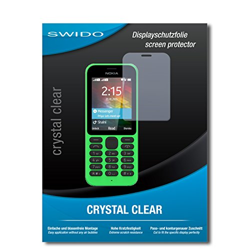 SWIDO Bildschirmschutz für Microsoft Nokia 215 Dual SIM [4 Stück] Kristall-Klar, Hoher Härtegrad, Schutz vor Öl, Staub & Kratzer/Schutzfolie, Bildschirmschutzfolie, Panzerglas Folie