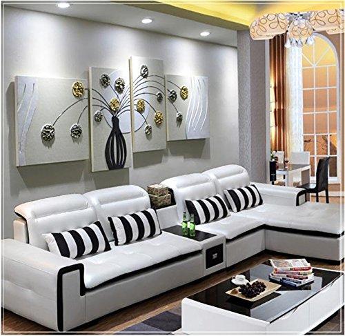 ZZZSYZXL simple de la mano pintados de socorro dimensiones pintura de cuero 5pcs salón del fondo del sofá pintura decorativa , 2