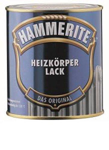 Preisvergleich Produktbild Hammerite Heizkörperlack, 500 ml, Weiß Glänzend, hitzebeständige Anstriche von Metallobjekten