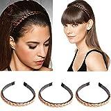 Haarband für Frauen, Hochzeit, Haarband, geflochten, geflochten, Haaraccessoires, gedreht, 3 Stück