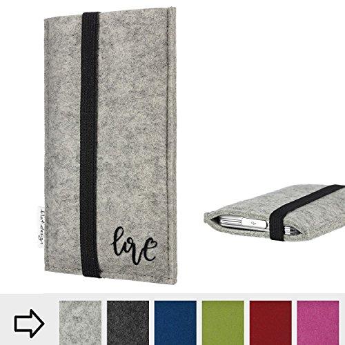 flat.design Handy Hülle Coimbra für Shift Shift6m personalisierbare Handytasche Filz Tasche Love Liebe